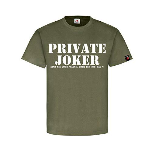 e John Wayne, oder Bin Ich das?! - T Shirt #1210, Farbe:Oliv, Größe:Herren XL ()