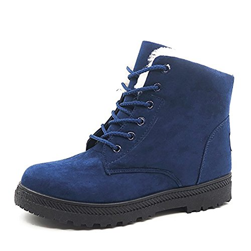 Wicky Ls Ladies Winter Worker Boots Outdoor Stivaletti Caldi Foderato Blu Sneaker