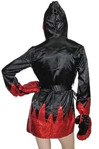 Central World Sexy Female Boxer Costume - Black & Red