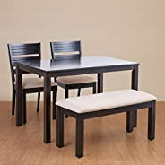 Home Centre Montoya 4 Seater Dining Table Set with Chair and Bench