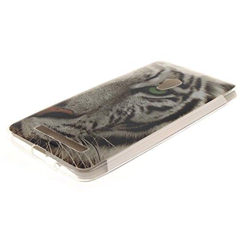 Ukayfe Per Zenfone 5 Custodia fit ultra sottile Silicone Morbido Flessibile TPU Custodia Case Cover Protettivo Skin Caso Con Stilo Penna - Almond Tree Tigre