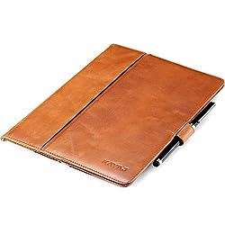 ZusammenfassungDas KAVAJ London ist ein Case im Portfolio-Stil, das Ihrem iPad Air einen professionellen Look verleiht. Es wurde aus 100% echtem, weichem und elegantem Leder hergestellt und zieht in der beeindruckenden cognacbraunen Farbe alle Blicke...