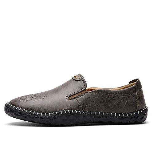 Onfly Pumpe Loafer Schlüpfen Beiläufig Leder Schuhe Pedal Schuhe Männer Mode Pure Farbe Anti-Rutsch Weiche Sohle Geprägt Lazy Schuhe Fahrschuhe Eu Größe 38-44 Khaki