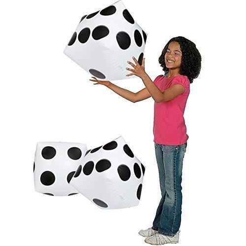 Inflable Gigante DADOS Playing Negro Con Blanco Puntos 2 piezas