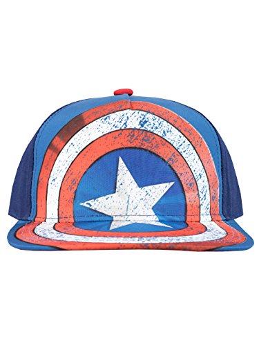 Marvel Gorra para niño Capitán América Talla única
