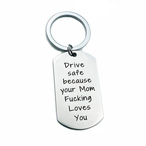 Beydodo Schlüsselanhänger Damen Freunde Gravur Drive Safe Because. Schlüsselbund Edelstahl