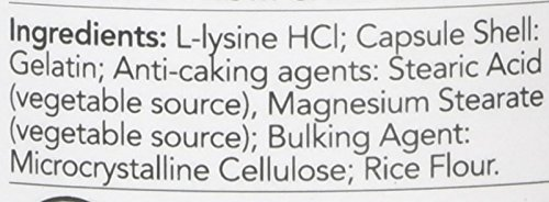Now Foods L-Lysine Capsules, 500 mg, Pack of 100