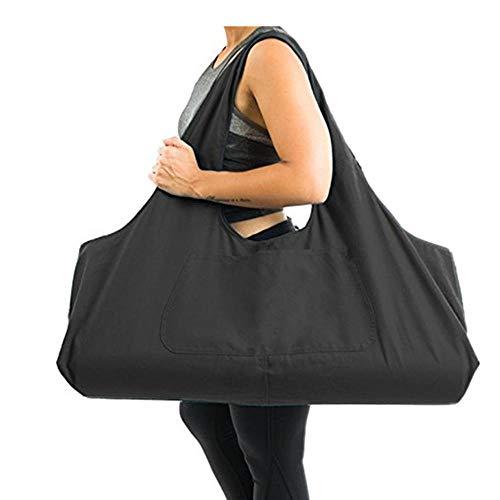 AOLVO Tasche für Yogamatte, mit Reißverschluss, groß, Yogamatte, Tragetasche mit Yoga-Tragegurt, Baumwoll-Leinen, 2 zusätzliche Taschen passend für 2 Yogamatten, 2 Handtücher, Schlüssel (Zwei Baumwolle Tasche)