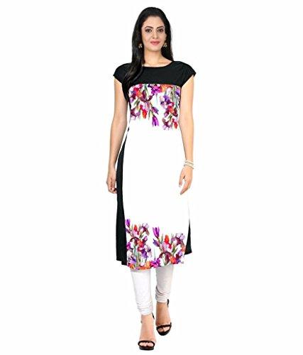 Velentino Trend Women Multicolor Floral Printed Crepe Kurtis VAT125 XXL