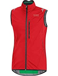 Gore Bike Wear Element Windstopper Active Shell, Gilet Da Ciclismo Per Uomo, Rosso, M