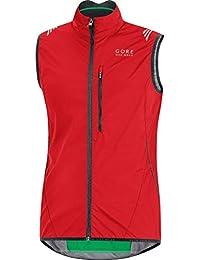 Gore Bike Wear Element Windstopper Active Shell - Chaleco para hombre, color rojo, talla L