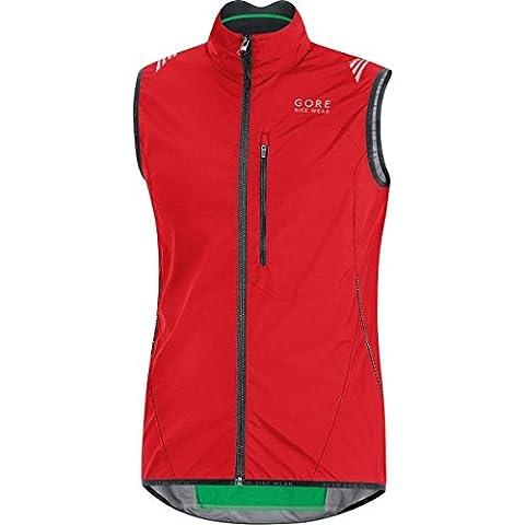 GORE BIKE WEAR Men's Cycling Vest, Super-Light, Compact, GORE WINDSTOPPER, ELEMENT WS AS Vest, Size XXL, Red, VWLELE