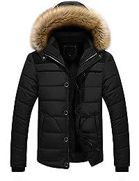 Zolimx Männer Winter Dicke Jacke Plus Fell Kapuze Mantel Outdoor Jacke  Herren Warme Gepolsterte Große Baumwollmantel bbac122f27