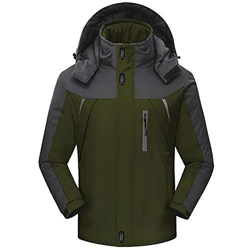 Elecenty abbigliamento sportivo da uomo giacca invernale da uomo in lana a maniche lunghe caldo zip cappuccio casual giacche parka caldo