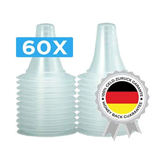60 Ersatzschutzkappen für alle Braun  Thermoscan Ohrthermometer (inkl Braun Thermoscan 7) | Ohr Fieberthermometer | Ohrenthermometer