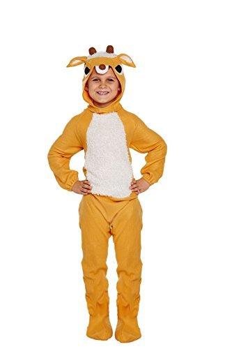 Das Rentier Sven Kostüm (Kinder festlich Weihnachten Rentier Sven Maskenkostüm - Braun, Small 4-6)