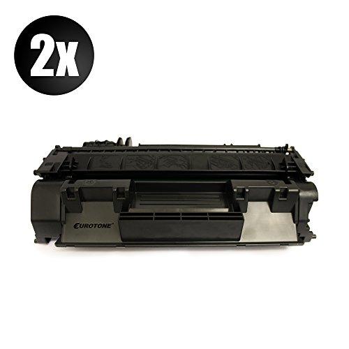 Preisvergleich Produktbild 2X Eurotone XXL Toner für Canon I-Sensys LBP 251 252 253 6300 6310 6650 6670 6680 DW x DN ersetzt 3480B002 719H