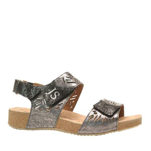 Josef Seibel Tonga 14 Femmes Cuir Sandale Anthracite-Black