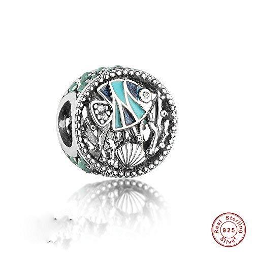 MOCCI 2017 Sommer Ozean Leben Meer Fisch Koralle Perle DIY passt für Original Pandora Armbänder Authentic 925 Sterling Silber Schmuck
