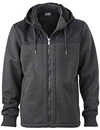 JAMES & NICHOLSON - veste doublée intérieur imitation fourrure - sweat - ouverture zippée - JN508 - homme