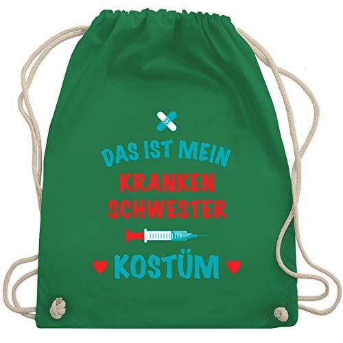 Karneval & Fasching - Das ist mein Krankenschwester Kostüm - Unisize - Grün - WM110 - Turnbeutel & Gym Bag