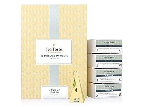 Tea Forté Coffret thé vert bio 48 pyramides Jasmine Green