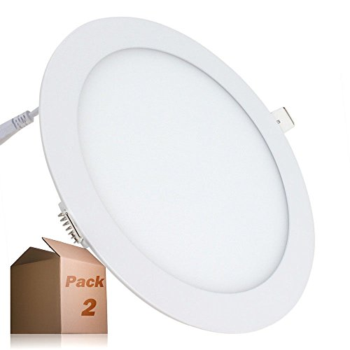 Placa LED Circular SuperSlim 20W (Pack 2) Downlight LED Blanco Neutro 4000k-4500k...
