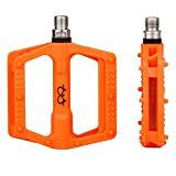 Pedali Ciclismo da Bicicletta 9/16' MTB Leggero Arancione