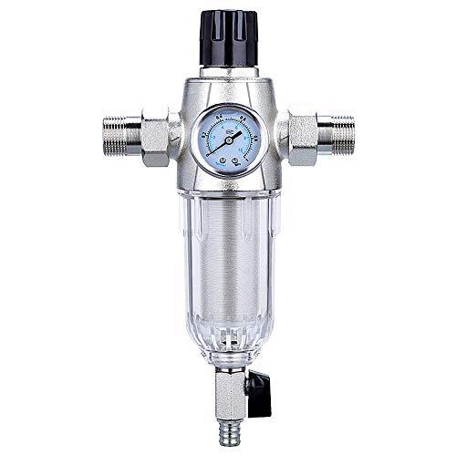 Intera Casa Acqua Pre-Filtro Sistema Protettore, Regolabile Spin Down Sedimenti Filtro, Decalcificante Addolcitore Misuratore Pressione dell\'Acqua,3pcs,dn25