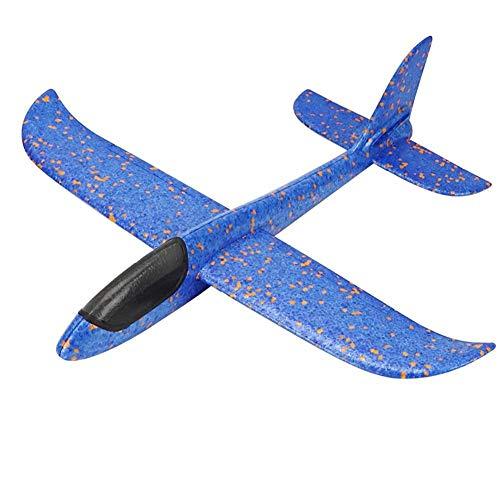 Dlb Flugzeug 48 cm Groß Blau Spielzeug Schaum Segelflugzeug, Werfen Schaum Flugzeug, Styroporflieger Segelflugzeug Modell, Flugzeuge,für Kindergeburtstag, Geschenke, Spiele, Outdoor Sport
