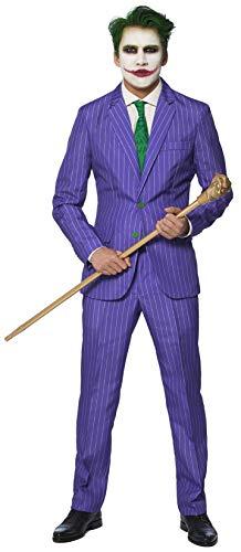 Unbekannt Mr. Joker Herrenkostüm Suitmeister Bösewicht lila-grün XXL (Heath Ledger Joker Kostüm Halloween)