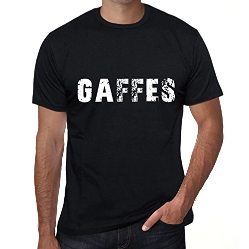 gaffes Herren T Shirt Schwarz Geburtstag Geschenk 00554