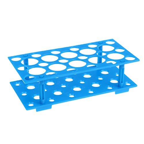 MagiDeal 1 Stück Labor Reagenzglasgestell abnehmbar Reagenzglas-Ständer Rohr-Gestell Hergestellt aus hochwertigem Kunststoff Reagenzglas-Gestell 10 ml, 15 ml, 50 ml Zentrifugenröhrchen - Als Bild, Klein (15 Ml Zentrifugenröhrchen)