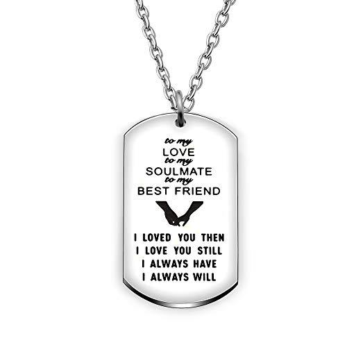 AGR8T Valentine Anhänger Halskette Best Friend Geschenke Geburtstag Frauen Girl–I Love Sie Dann Noch