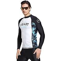 sanang Hombres Manga Larga Camisetas De Baño Traje de buceo surf protección UV camiseta deportiva de
