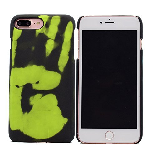 iPhone 7 plus Hülle,Thermal Induction Discoloration Hülle,VENTER® Hard PC Exclusive Magical Design Heat Sensitive Cover Matte Protection Snap On Protective Hülle für Samsung iPhone 7 plus Green