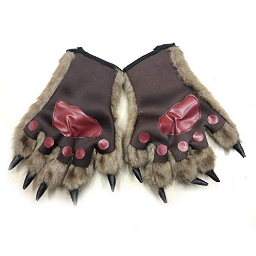 Halloween Decoration Bear Paws Gloves Werewolf Orangutan Gloves Great for Kid - Bear Paw Handschuhe Kostüm