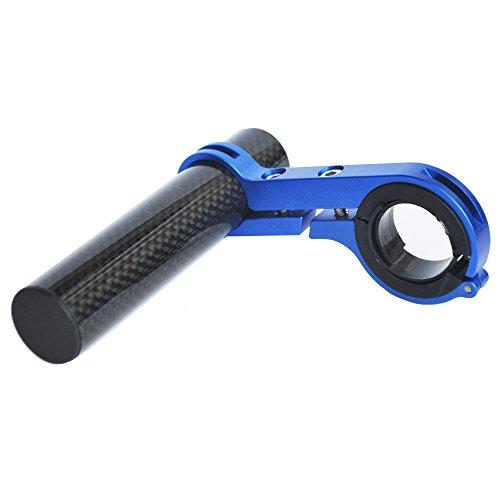 Upanbike  Fahrrad-Lenker-Erweiterung Karbonfaser Halterung Aluminiumlegierung Klemme Für Fahrrad-Tacho Scheinwerfer Licht Lampe Halter, Blue 10cm Single Clamp, 3.9''(one clamp) (Clamp-mount-licht Bar)