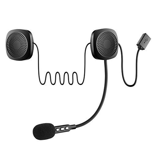Cuffie Bluetooth per casco da moto, con interfono per caschi, cuffie wireless con sistema audio microfono per moto