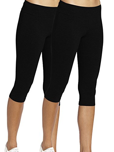 iLoveSIA Figur Leggings Mädchen Schwarz Joggings Hose Figur Leggings Damen Tights Capri Yoga Gym,S