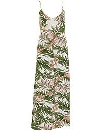 96337c261abc Boohoo Green Pink Palm Print Jersey Midi Summer Dress RRP £25