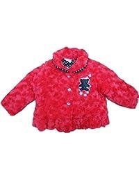 Bébé fille manteau en fausse fourrure Rouge-18/23mois