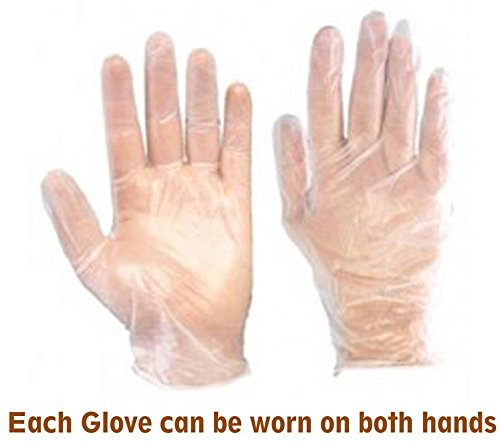 Swadesh (1000 Pieces) Clear Transparent Disposable Plastic Gloves