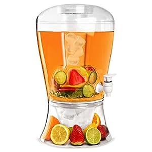 On Ice de boisson Plastique 10 tasses-Etui de 4 bar @drinkstuff Fontaine à boissons Punch Tower, Distributeur à limonade avec infuseur de Fruit