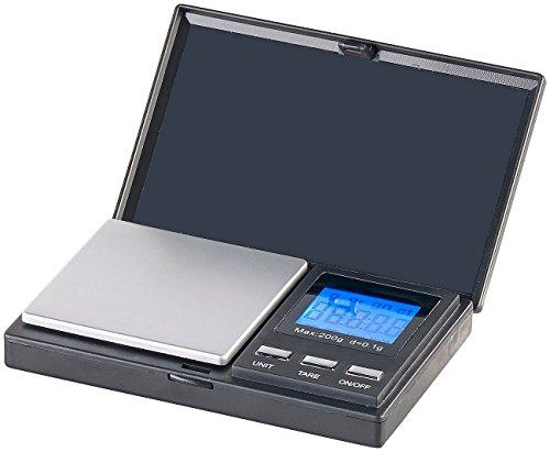 Rosenstein & Söhne Goldwaage: Digitale Taschen-Feinwaage mit LCD-Display, bis 200 g, auf 0,1 g genau (Miniwaage)