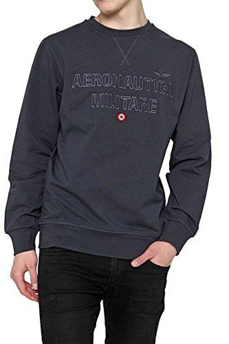 Aeronautica militare round neck linea fashion underwear felpa, blu, medium (taglia produttore:m) uomo