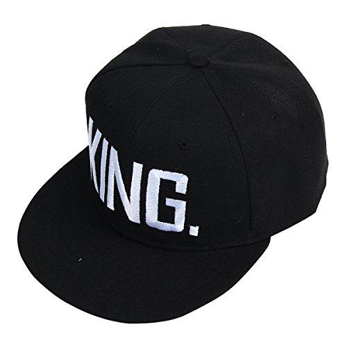Yodensity Baseballkappe Baseballmütze Sommer Hut King Queen Sport Kappe Hip Hop Cap