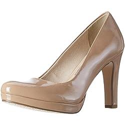 Tamaris 22426, Zapatos de Tacón para Mujer, Beige Nude (Nude Patent 253), 38 EU