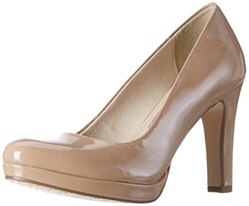 Tamaris 22426, Scarpe con Tacco Donna, Beige (Nude Patent 253), 38 EU