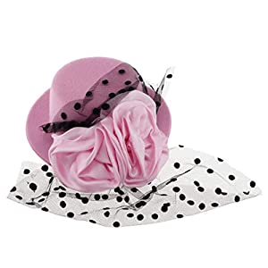 F Fityle Kinder Mädchen Fascinator Mini Hut Fotoshooting Hut Mütze